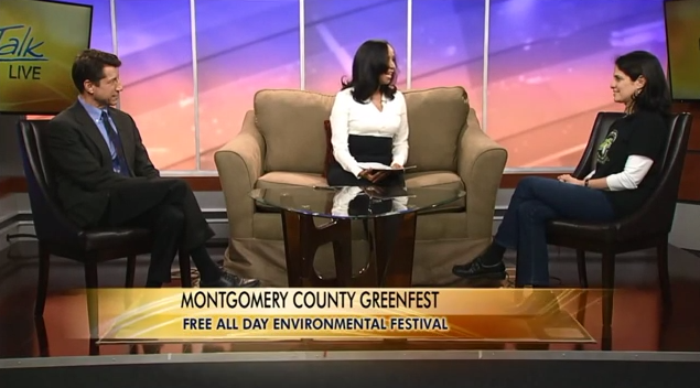 Photo from the GreenFest interview on WJLA